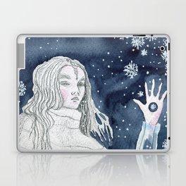 Snow Queen at the window Laptop & iPad Skin