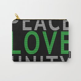 Peace Love & Unity Carry-All Pouch