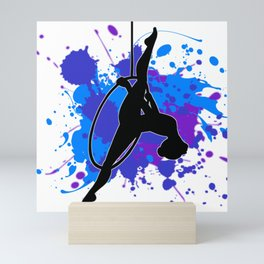 Black Lyra Mini Art Print