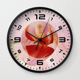 Close up Orchid #5 Wall Clock