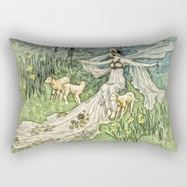 Fairy in the Meadow Rectangular Pillow