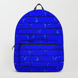 The Bright Blue Brick Wall Background Backpack