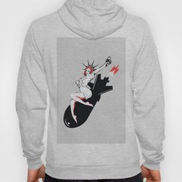 Bombshell - Statue of Liberty Political Art Print Hoody