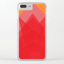 Colorful Red Abstract Mountain Clear iPhone Case