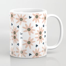 Lovely Modern Flowers Pattern Prints Coffee Mug