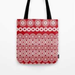 Cute Red Crochet Lace Flowers  Tote Bag