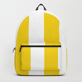 Retro 60s Big Surf Yellow Stripe Pattern Backpack