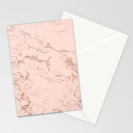Modern rose gold glitter ombre foil blush pink marble pattern Stationery Cards