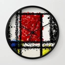 Mondrian with a twist Wall Clock