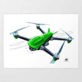 CP Green Machine Art Print