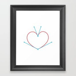 Bezier Love Framed Art Print