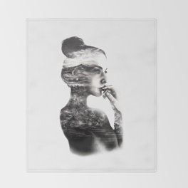 Vagabond // Fashion Illustration Throw Blanket