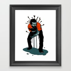 Stop Wasting Arrows And Aim For Its Head, You Damn Fools! Framed Art Print