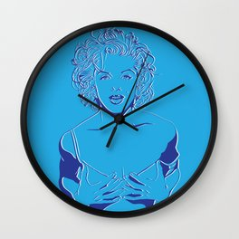 Lady in Blue Wall Clock