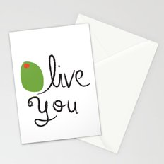 Olive You. Stationery Cards