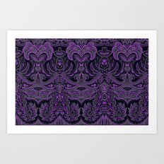 paisley 9 purple Art Print