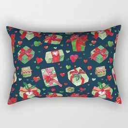 love is a present watercolor pattern Rectangular Pillow