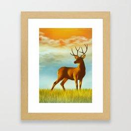 Morning Deer Framed Art Print
