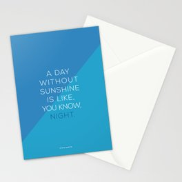 A Day Without Sunshine. Stationery Cards