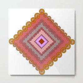 Spiral traingle Metal Print