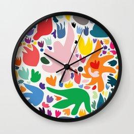 Colorful Joyful Pattern Abstract Wall Clock
