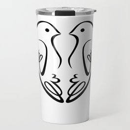 Birds in Love Travel Mug