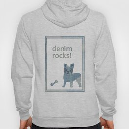 Denim Rocks French Bulldog Hoody