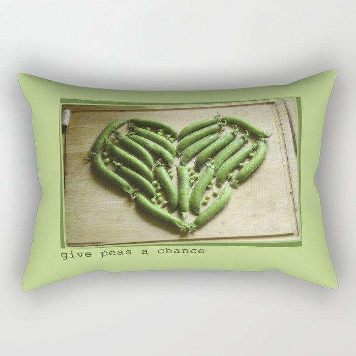 Give Peas a Chance Rectangular Pillow