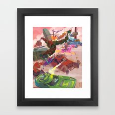 The Adventure Zone Pedals to the Metal Framed Art Print