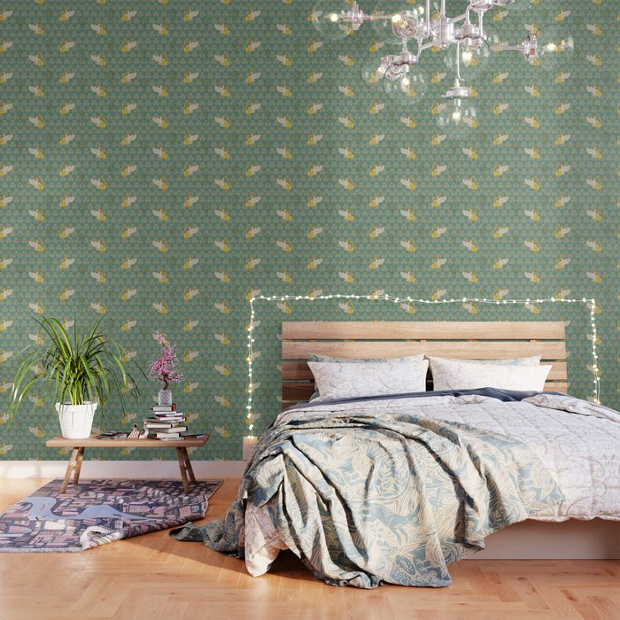 Hoopoe Parrot and Citrus Wallpaper