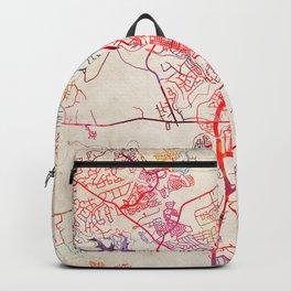 Georgetown map Texas TX Backpack