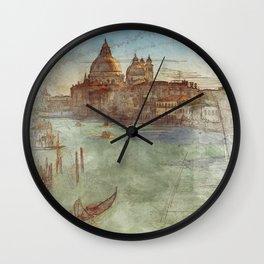 Venezia Canal Grande - SKETCH Wall Clock