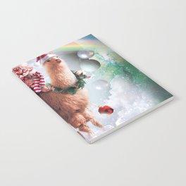 Christmas Rainbow Llama - Cat Llama Notebook