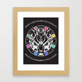 Silver Fenrir with Materia Framed Art Print