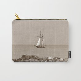 Tall ship sailing sepia finish Carry-All Pouch