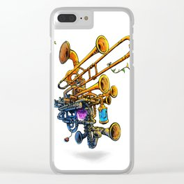 Music Brass Machine Clear iPhone Case