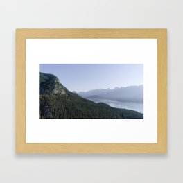 Kananaskis Mountain Lake View Framed Art Print