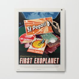 First Exoplanet Metal Print