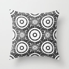 Geometric black and white Throw Pillow