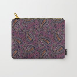 Meredith Paisley - Eggplant Purple Carry-All Pouch