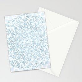 Blue Delicate Nature Mandala Stationery Cards