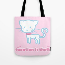 Taxation Is Theft Kitty Tote Bag