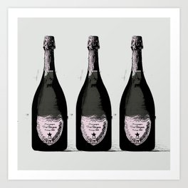 Champagne Pink party Graphic illustration Art Print