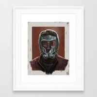 starlord Framed Art Prints featuring STARLORD PORTRAIT by Don Seaworth