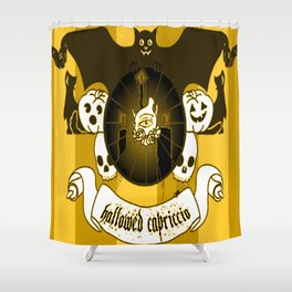 Hallowed Capriccio Logo (Stripes) Shower Curtain