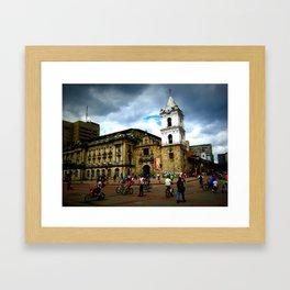 Life in Bogota Framed Art Print