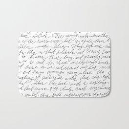 Script Text Book Page Letter Bath Mat