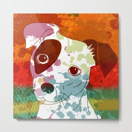 Abstract Colorful Jack Russel Terrier  Metal Print
