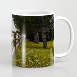 Country Wooden Fence Line Coffee Mug