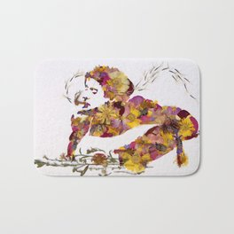 Kurt Wildflower Portrait Bath Mat
